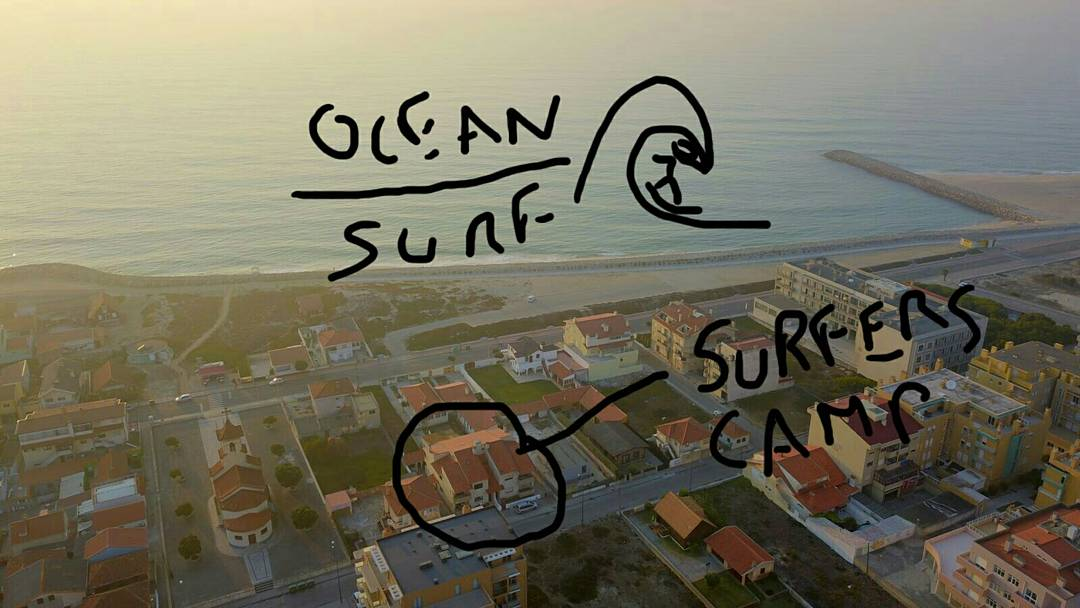 Surfers Camp guest House aerial view